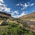 Campsite just north of Rye Grass.- Owyhee River: Rome to Birch Creek