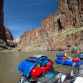 The view from Montgomery Camp, also a good scouting point for Montgomery rapid.- Owyhee River: Rome to Birch Creek