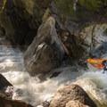Boofing into Rebirth.- Middlebury Gorge Kayaking