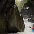 Leaving Rebirth.- Middlebury Gorge Kayaking
