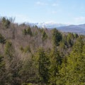 A great view of Stowe Mountain Resort from the upper trail.- Moss Glen Falls