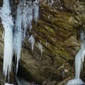 Interesting ice formations in the plunge pool during winter.- Bingham Falls