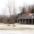 A large pavilion can be reserved for large groups.- Mills Riverside Park