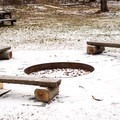 There is a firepit that can be used with a permit.- Mills Riverside Park