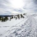 The Glacier Way Trailhead is a popular embarking point for cross-country skiers and snowshoers.- Donner Ridge Snowshoe via Glacier Way Trailhead