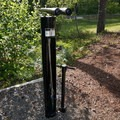 Tool stand at the visitor center.- L.L. Stub Stewart State Park Mountain Bike Trails: Freeride + XC Loop