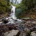 Lower Burstarse Falls.- Burstarse Falls Hike via Pacific Crest Trail