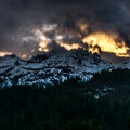 Sunset over the Trinity Divide on the hike home.- Burstarse Falls Hike via Pacific Crest Trail