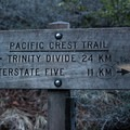 At this sign head left! - Burstarse Falls Hike via Pacific Crest Trail