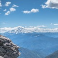 Taking in the views of Mount Jefferson on the way to Battle Ax Mountain.- Battle Ax Mountain
