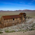 The mill building dominates the ghost town landscape.- Berlin-Ichthyosaur State Park