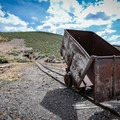 An ore cart outside of the Diana Mine.- Berlin-Ichthyosaur State Park