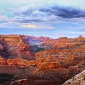 Evening view from the Wedge. Looking east into the Little Grand Canyon.- Little Grand Canyon of the San Rafael