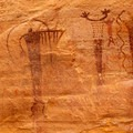 Some of the rock art of the Buckhorn Panel.- Little Grand Canyon of the San Rafael