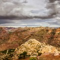 A storm over the Little Grand Canyon.- Little Grand Canyon of the San Rafael