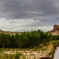 Walking along the San Rafael River at the eastern end of the Little Grand Canyon.- Little Grand Canyon of the San Rafael