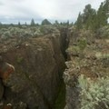 Peering into the Crack in the Ground formation.- Crack In The Ground