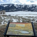 Interpretive signs are located at the pull outs in Lamar Valley.- Lamar Valley