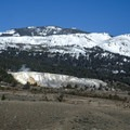 Mammoth Hot Springs in the northern part of Yellowstone National Park.- Mammoth Hot Springs