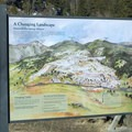 Interpretive sign along the boardwalk in Mammoth Hot Springs.- Mammoth Hot Springs