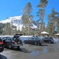 Parking can be found along Tioga Pass Road anywhere between Ellery Lake and the eastern entrance to Yosemite National Park.- Mount Dana Backcountry Ski