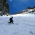 Though straightforward, snow conditions in the couloir can be variable.- Mount Dana Backcountry Ski