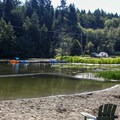 More lakeside camping on Dream Lake.- San Juan Island: Lake Dale Resort + Campground