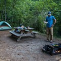 Campsite 110 on Neva Lake.- San Juan Island: Lake Dale Resort + Campground