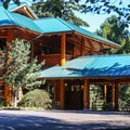 The main lodge.- San Juan Island: Lake Dale Resort + Campground