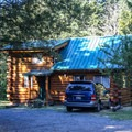 There are a few small cabin rentals available at the resort.- San Juan Island: Lake Dale Resort + Campground