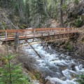 The bridge over the Wallowa River.- BC Falls Hike