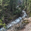 The Wallowa River as seen from the switchbacks.- BC Falls Hike