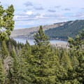A view of Wallowa Lake from the BC Falls Trail.- BC Falls Hike