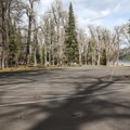 Lots of parking available.- Wallowa Lake State Park