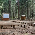 Amphitheater for summer activities.- Wallowa Lake State Park Campground