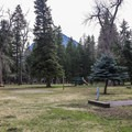Playground for the kids in the central area of the campground.- Wallowa Lake State Park Campground