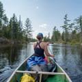 Beaver Lake gradually narrows as you approach the Eagle Reservoir.- Beaver River Canoe Trail
