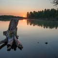 Island sunset views.- Beaver River Canoe Trail