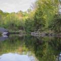 Exiting the Soft Maple Reservoir.- Beaver River Canoe Trail