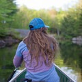 Paddling near the end of the Soft Maple Reservoir.- Beaver River Canoe Trail