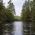 The narrows just below the Elmer Falls Powerhouse.- Beaver River Canoe Trail