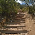 There are stairs going up the last quarter mile.- Kwaay Paay Peak Trail