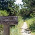 Trail leading from Carter Lake Campground to the beach.- Carter Lake Campground