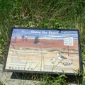 Information sign near the beach access in the Oregon Dunes National Recreation Area.- Carter Lake Campground