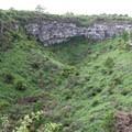 Looking into a gemelo (crater).- Los Gemelos
