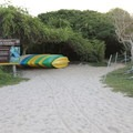 The only overnight camping spot on the island.- Garrapatero Beach