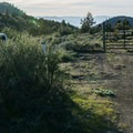 Parking and the entrance.- Yellow Butte
