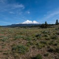 The first nice view of Mount Shasta. - Yellow Butte
