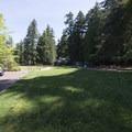 Whatcom Falls Park at the main parking area.- Whatcom Falls Park
