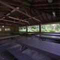 Picnic shelter in Whatcom Falls Park.- Whatcom Falls Park
